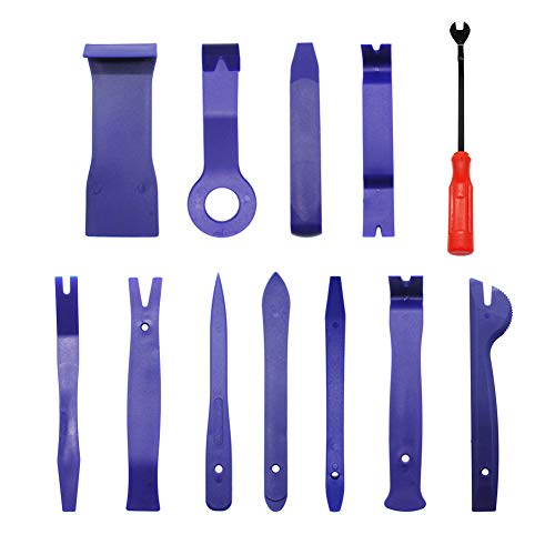 ValueHall 12 Pieces of Auto Trim Molding Removal Tools Car Panel Dash Radio Removal Installer Pry Tools Kit Upholstery Removal Kit V7060