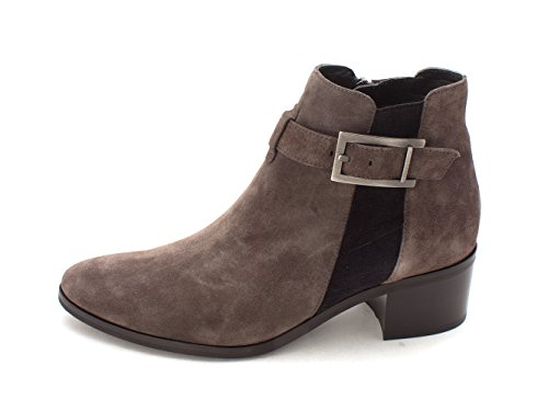 Aquatalia Womens Florene Suede Almond Toe Ankle Fashion, Dark Grey, Size 7.0