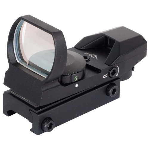 NcSTAR Red Dot Sight TACTICAL RED DOT WITH 4 DIFFERENT RETICLES/BLACK by NcSTAR