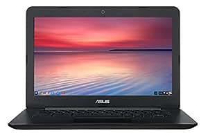ASUS Chromebook C300MA 13.3 Inch 1366 x 768 (Intel N2830 2.16GHz Dual-Core, 16GB SSD, Black) Multi-Format SD Card Reader (Certified Refurbished)