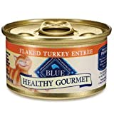 Blue Buffalo Healthy Gourmet Flaked Turkey Entree Canned Cat Food, My Pet Supplies