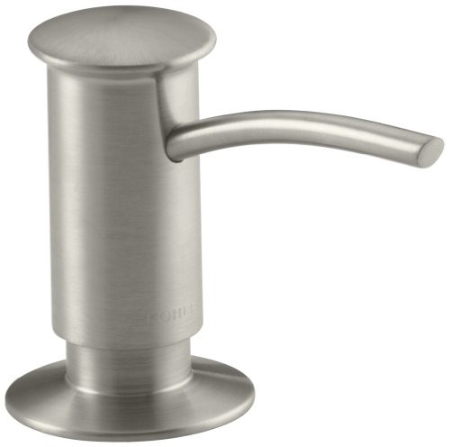 KOHLER K-1895-C-BN Soap or Lotion Dispenser with Contemporary Design (Clam Shell Packed), Brushed Nickel