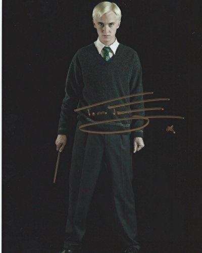 Harry Potter Signed Autographed Tom Felton as Draco Malfoy 8x10 Photo