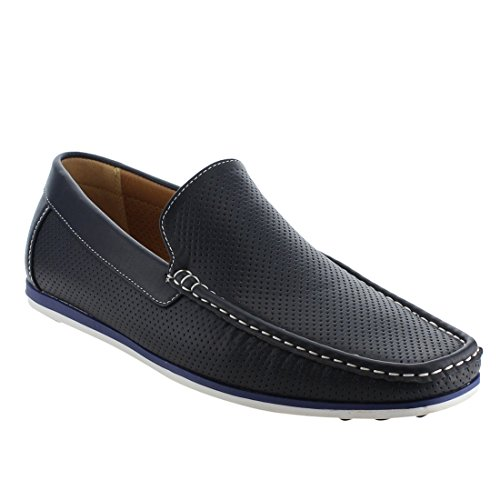 Arider Slip Moc Toe Navy AG59 Loafers on Perforated Casual Men's qwrqgRP