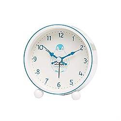 Alarm Clock LITING_Wang Creative Student Mute Bedroom Bedside Table Clock Cute Children Cartoon Small (Color : Penguin)