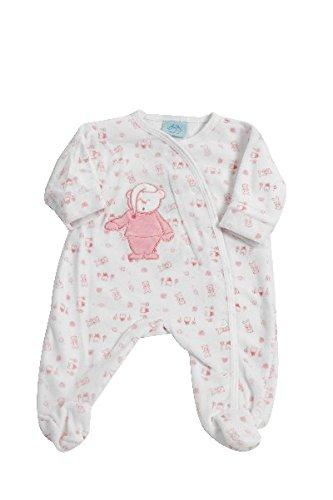 King Bear pijama terciopelo estampado osito con saquillo bordado oso con una apertura. Pijama para