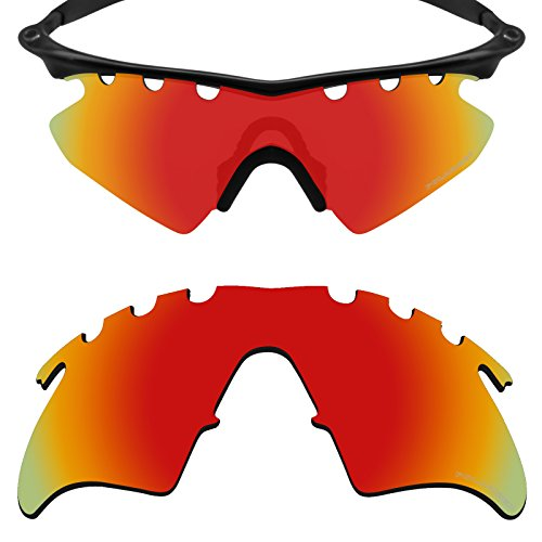Mryok+ Polarized Replacement Lenses for Oakley M Frame Heater Vented - Fire - Lenses Frames For Replacement
