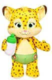 Snap Toys Word Party - Franny 10'' Stuffed Plush Snuggle and Play Baby Cheetah With Bottle - from the Netflix Original Series - 18+ Months