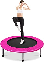 Giantex Mini Fitness Trampoline for Adults and Kids, 38 Inch Rebounder Trampoline, with Padding & Springs