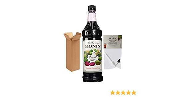 Amazon.com : Monin Desert Pear Syrup, 33.8-Ounce Plastic Bottle (1 Liter) with Monin BPA Free Pump, Boxed. : Grocery & Gourmet Food