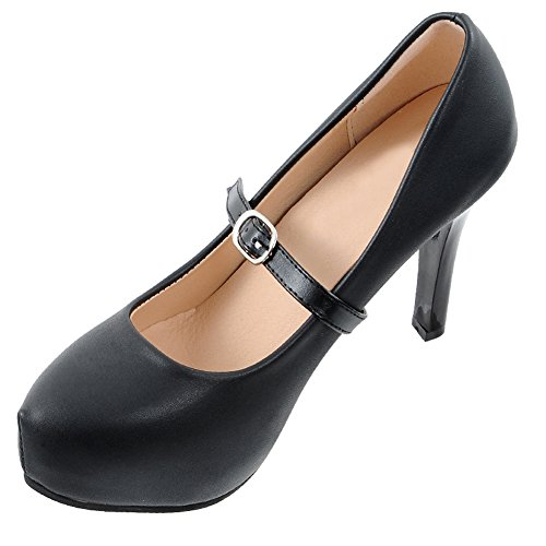 Closecret Women's Detachable PU Leather Handy Elasticated Shoe Straps,High Heels Anti-loose Shoelace Accessories(Black) (1 (Detachable Strap)