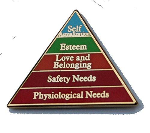 Maslow's Hierarchy Lapel Pin (Cast Lapel Pin)