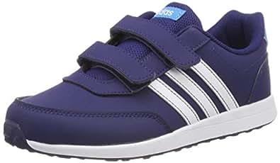adidas Australia Boys VS Switch 2 CMF Trainers, Dark Blue/Footwear White/Shock Cyan, 1 US