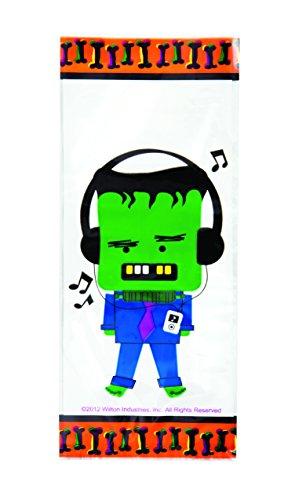 Wilton 1912-0034 Halloween Spooky Pop Party Bags, 20 (Frankenstein Halloween Treats)