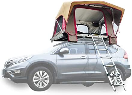 JIN Tours autocontrolados Tienda de campaña para Camping, configuración exenta automática de instalación de aleación de Aluminio Habitación móvil al Aire Libre, con Escalera de extensión: Amazon.es: Hogar