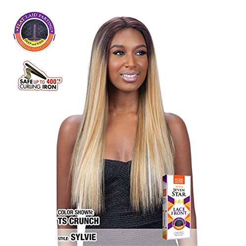 - MODEL MODEL FLAT LAID DEEP AND WIDE LACE FRONT WIG - SYLVIE (ROSEGOLD)