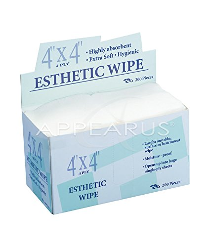Appearus 4x4 Esthetic Non-Woven Cleansing Wipes (200 Ct.)