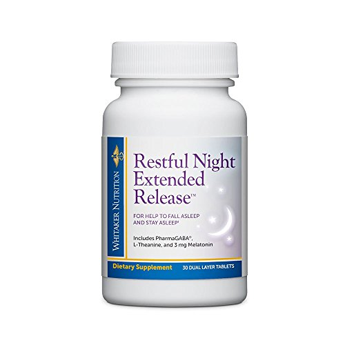 Tablets 30 Sleep - Dr. Whitaker's Restful Night Extended Release Melatonin Sleep Aid Helps You Fall Asleep and Stay Asleep Longer with Dual-Layer, Extended Release Technology, 30 Tablets (30-Day Supply)