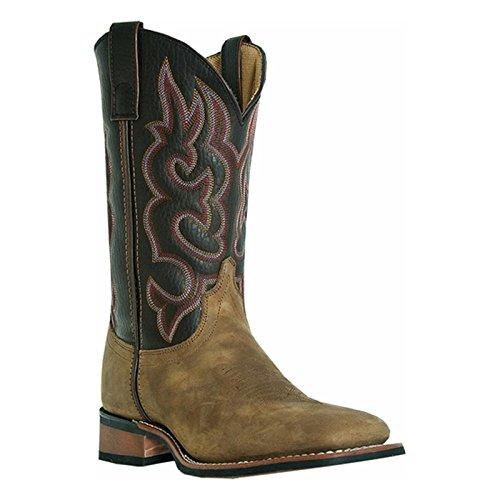Laredo Mens Lodi Western Boot Taupe Chocolate 10 D Us