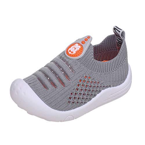 Randolly Baby Shoes  Toddler Infant Kids Girls Boys Solid Soft Mesh Socks Sports Breathable Sock Sneakers Gray - Shoe Sport Raspberry