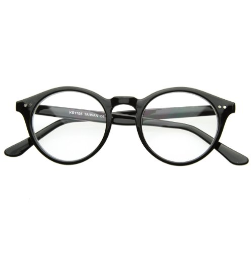 zeroUV - Vintage Inspired Clear Lens Small Circle Round Sunglasses - Glasses Vintage Inspired