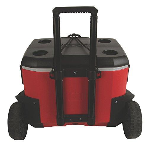 Coleman 55 Quart Rugged 55 A T Wheeled Cooler New Ebay