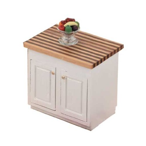 - Dollhouse Miniature The Kitchen Collection - Center Island Cabinet