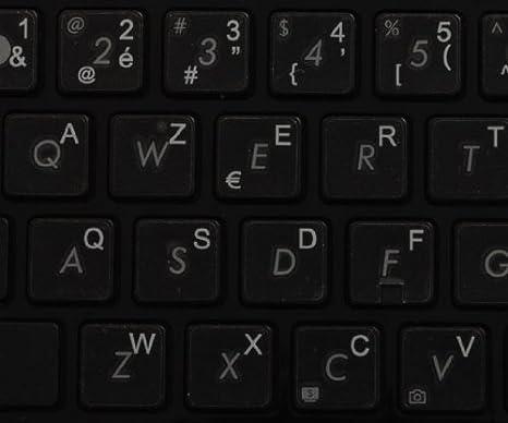 14X14 Dutch Keyboard Labels ON Transparent Background with Orange Lettering