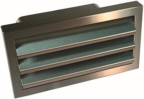 Acero inoxidable Exterior rejilla Canal Plano optimairo 220 x 90 mm Válvula antirretorno * 50569: Amazon.es: Grandes electrodomésticos