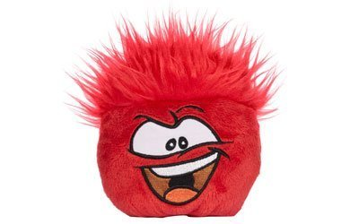 Disney's Club Penguin Plush Puffle - Series 5 - Red (4 inch) (Includes Coin with Code) by Club Penguin by Jakks Pacific