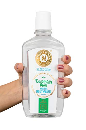 Nature's Artisan Rosemary Mint All-Natural Alcohol-Free Xylitol Mouthwash (16 oz)