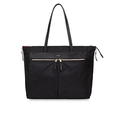 Knomo Laptop Bags (Knomo Luggage Women's Grosvenor Place Travel Shoulder Bag, Black, One Size)
