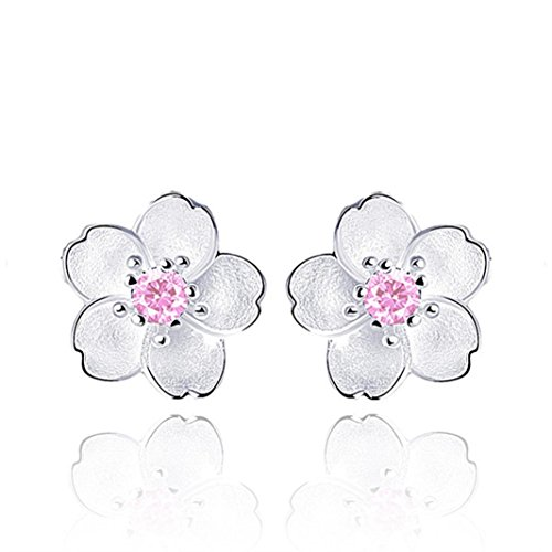 - Women Earrings Clearance! 2018 Flower Earrings Crystal Clip On Stud Earrings Fashion Jewelry Eardrop for Women Girls (Pink)