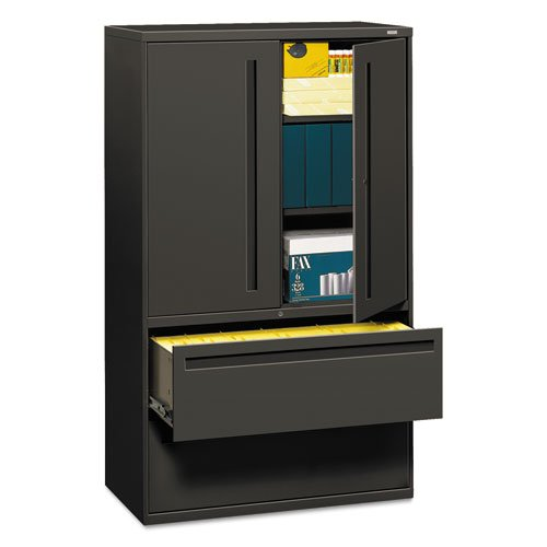 HON 2-Drawer with 3 Shelves Office Filing Cabinet - Brigade 700 Series Lateral File Cabinet, 19.25