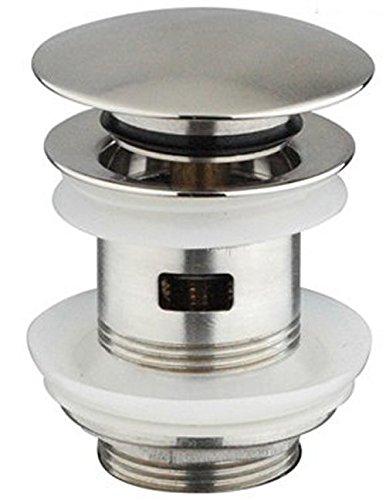 De lanwa - Empuje residuos de acero inoxidable con lavabo botó n tapa del agujero de estancia ranurado Landion GmbH 607005.0