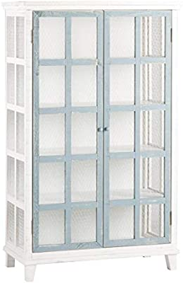 BANAK Fiord Vitrina Doble con grialle – Madera – 80 x 39 x 131 cm ...