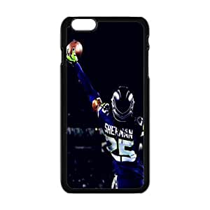 NFL seattle seahawks Print Black Case With Hard Shell Cover for Apple iPhone 6 Plus 5.5""