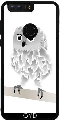 Funda de silicona para Huawei Honor 8 - Búho Blanco by Nina Baydur