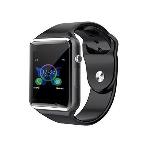 Aosmart Bluetooth Touch Screen Smart Wrist Watch Phone with Camera - Black