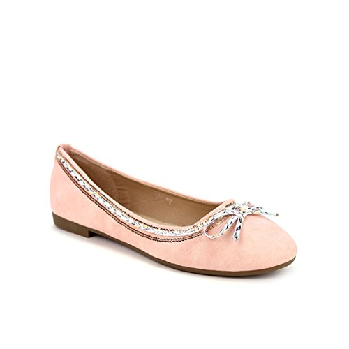 Cendriyon Ballerine Rose FDM Moda Chaussures Femme Rose iVeFhY98m