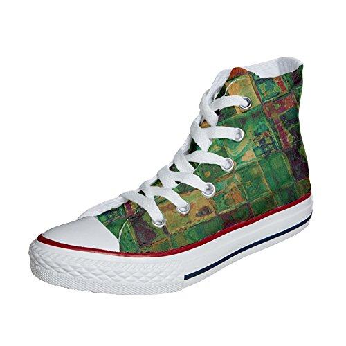 Converse All Star Hi Canvas, scarpe Personalizzate (prodotto artigianali) Design Texture