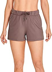 CRZ YOGA Women's Medium Rise Relaxed Fit Sports Shorts with Pockets -2.5 In