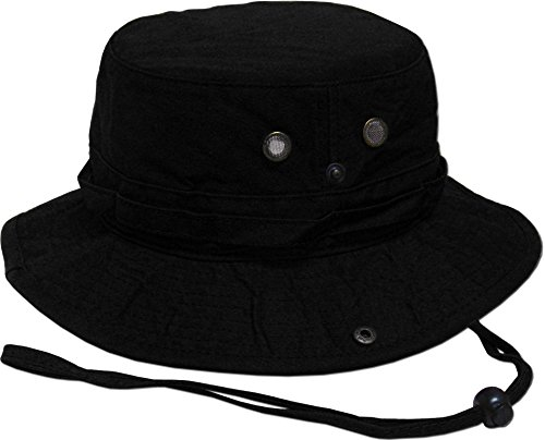 KB-BUCKET2 BLK The Go-to Boonie Hat for OUTDOOR Activities