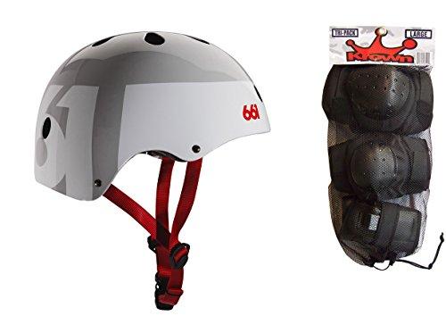 661 Dirt Lid Skate BMX Helmet Grey CPSC with Knee