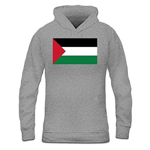 Sudadera con capucha de mujer Bandera de Palestina by Shirtcity Gris granulado