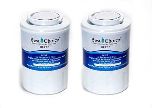 GE MWF SmartWater Compatible By Best Choice Water Filters Certified Refrigerator Replacement Cartridge Fits MWFA, MWFP, GWF, GWFA, Kenmore 9991, 46-9991, 469991 (2-Pack)