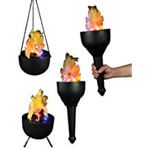 Fortune Products FLM-101 Battery Operated Flame Light, Black