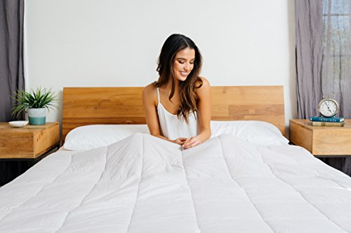 Luna Weighted Blanket (15 lbs | 60'' x 80'')•Scientifically Engineered for Stress, Anxiety, ADHD, Autism, Deeper Sleep• 100% Organic & Breathable Cotton • 100 Day Free Return by Luna Wellness (Image #8)