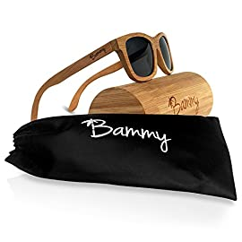 Bammy Bamboo Sunglasses 36 UNIQUE: Inspired by nature, the patterning of bamboo products varies. Each pair of Bammy Sunglasses is unique to the purchaser, making them one-of-a-kind. POLARIZED LENSES: Bammy Sunglasses have polarized UV400 lenses which provide excellent protection from glare. WATERPOORF: Take your Bammies to the lake. Yes, our shades float!