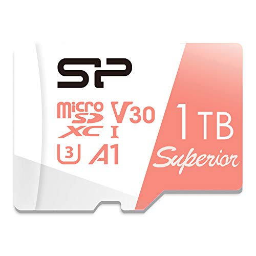 Silicon Power 1TB Superior Pro microSDXC UHS-I (U3), V30 4K A1, High Speed MicroSD Card with Adapter